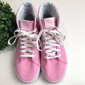 Vans Pink Hightops Size 8 Women 6.5 Men Unisex